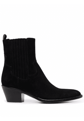 Buttero heeled suede boots - Black