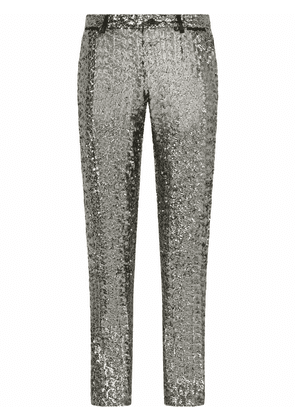Dolce & Gabbana sequin-embellished trousers - Grey