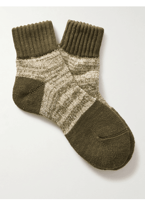 Anonymous ism - Mélange Knitted Socks - Men - Green