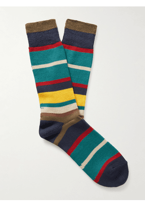 Anonymous ism - Striped Knitted Socks - Men - Multi