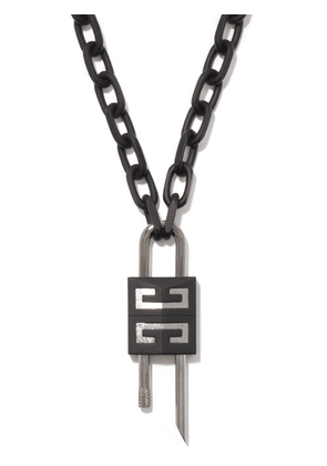 Givenchy - Padlock Chain-link Necklace - Mens - Black