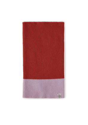 Mulberry Colour Block Knitted Snood - Pumpkin-Icy Pink