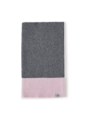 Mulberry Colour Block Knitted Snood - Grey-Pink