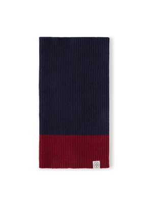 Mulberry Colour Block Knitted Snood - Navy-Oxblood