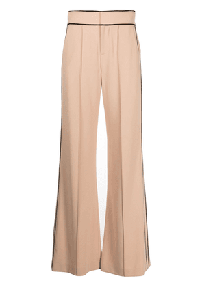 Alice+Olivia Dylan pipe-trim wide-leg trousers - Neutrals