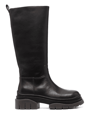 ASH Supremium 60mm knee length leather boots - Brown