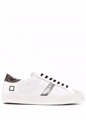 D.A.T.E. glitter-detail low-top trainers - White