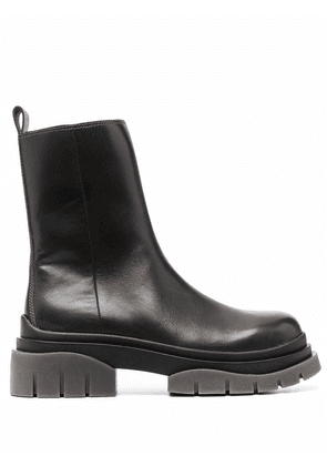 ASH Sting leather 50mm boots - Grey