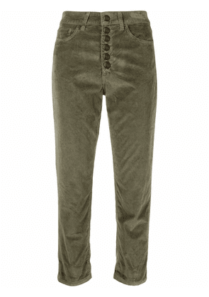 DONDUP cropped corduroy trousers - Green