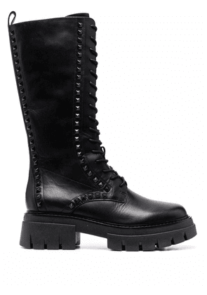 ASH Lullaby studded lace-up boots - Black