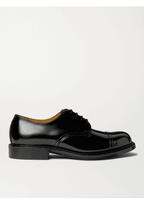Mr P. - Heath Goodyear-Welted Cap-Toe Polished-Leather Derby Shoes - Men - Black - UK 7