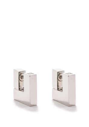 Givenchy - 4g-engraved Square Earrings - Womens - Silver