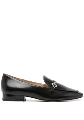 Coach pointed-toe buckled leather loafers - Black