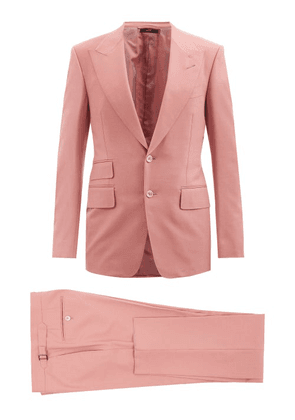 Tom Ford - Shelton Single-breasted Canvas Suit - Mens - Pink