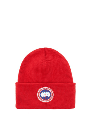 Canada Goose - Logo-patch Merino-wool Beanie Hat - Mens - Red