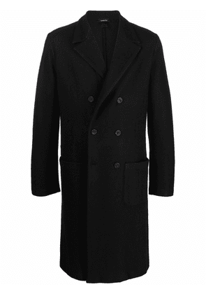 Avant Toi double-breasted tailored coat - Black