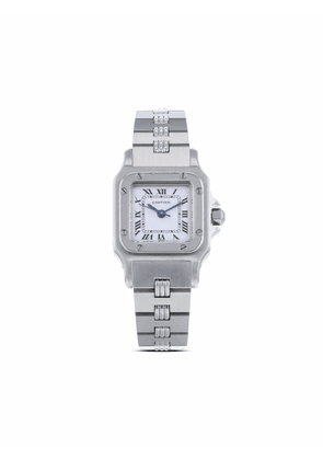 Cartier 1990s pre-owned Santos 24mm - White