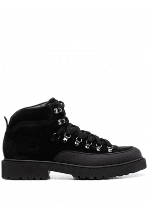 Doucal's chunky lace-up leather boots - Black