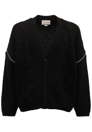 Wool Cable Knit Cardigan