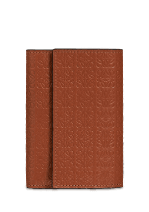 Small Vertical Embossed Leather Wallet