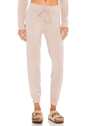 Beyond Yoga Lounge Around Midi Jogger in Taupe. Size M.