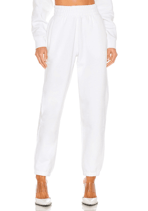 T by Alexander Wang Foundation Terry Classic Sweatpant in White. Size M, S, XS.