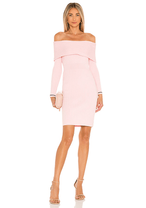 MILLY Off The Shoulder Dress in Blush. Size M, XS.