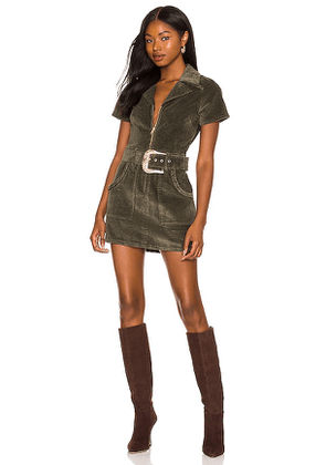 Show Me Your Mumu Outlaw Dress in Army. Size M, S, XS.