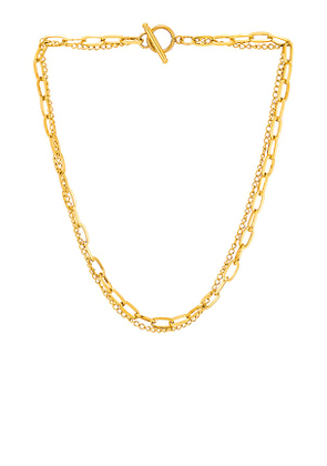 Ellie Vail Arden Toggle Necklace in Metallic Gold.