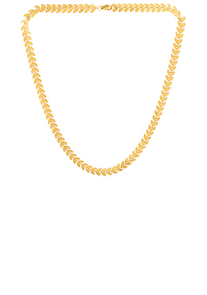 Ellie Vail Talulah Chevron Chain Necklace in Metallic Gold.