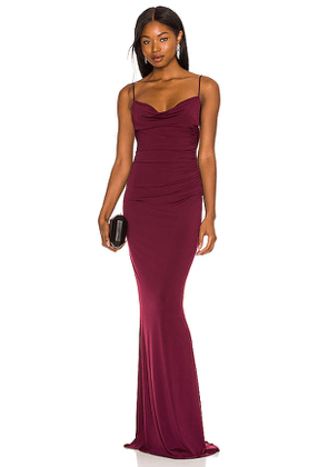 Katie May Surreal Gown in Wine. Size M, S, XS.