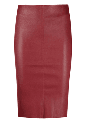 Drome high-waisted leather skirt - Red