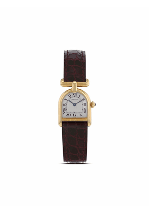Cartier 1980s pre-owned C-shaped case 26mm - White