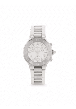 Cartier 1990s pre-owned Autoscaph 21 38mm - White