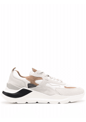 D.A.T.E. Fuga panelled low-top sneakers - Neutrals