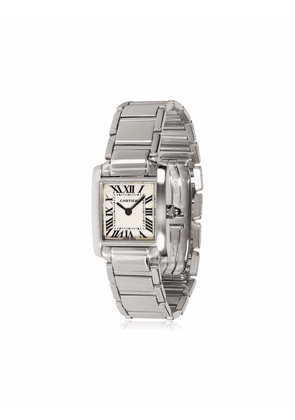Cartier pre-owned Tank Francaise 23mm - White