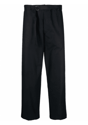 Costumein belted wide-leg cropped trousers - Black