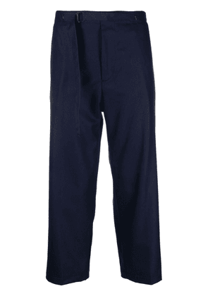 Costumein belted wide-leg cropped trousers - Blue