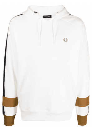 FRED PERRY colour-block cotton hoodie - White