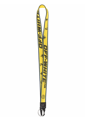 Off-White Industrial neck-strap keyring - Yellow