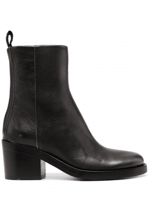 Buttero faded-leather ankle boots - Black