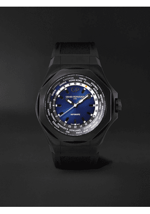 Girard-Perregaux - Laureato Absolute WW.TC Automatic 44mm PVD-Coated Titanium and Rubber Watch, Ref. No. 81065-21-491-FH6A - Men - Blue - one size
