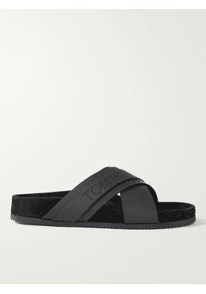 TOM FORD - Wicklow Leather and Suede Sandals - Men - Black - UK 6