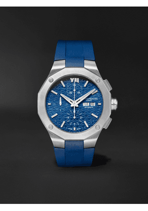 Baume & Mercier - Riviera Baumatic Automatic Chronograph 43mm Stainless Steel and Rubber Watch, Ref. No. M0A10623 - Men - Blue