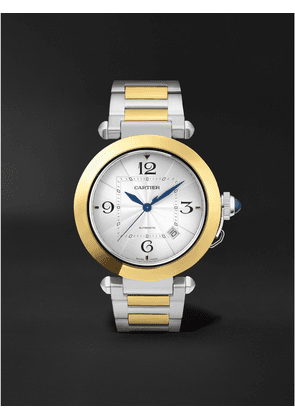 Cartier - Pasha de Cartier Automatic 41mm Stainless Steel and 18-Karat Gold Watch, Ref. No. W2PA0009 - Men - White