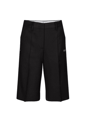 Mid-rise wool-blend shorts