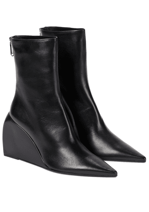Dolls Wedge leather ankle boots