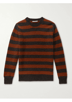 Connolly - Goodwood Striped Mélange Shetland Wool and Cashmere-Blend Sweater - Men - Red - S