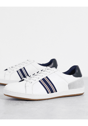Dune Tenby trainers in white leather