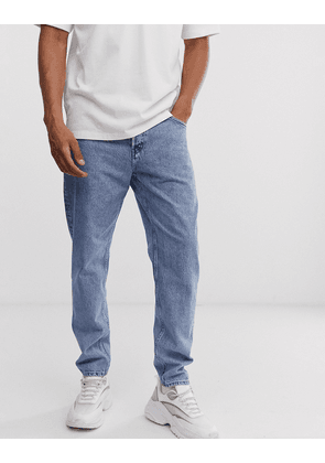 Weekday Barrel loose fit relaxed fit jeans in blue